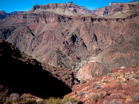 Phantom Ranch from Kaibab Trail